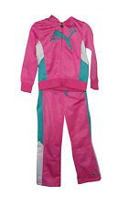 Girls PUMA Lifestyle 4T 2-pc Hooded Running Outfit Official Puma Hot Pink Teal