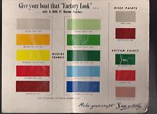 U-Mak-It Marine Finishes Boat Paint Ad Brochure 1950s