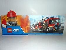 LEGO CITY FEUERWEHR FIRE BRIGADE WERBE BANNER MAGNETPLAKAT ADVERTISING LABEL