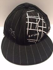 USED - 5950 New Era BLACK St Louis CARDINALS City Map Baseball CAP Hat WOOL
