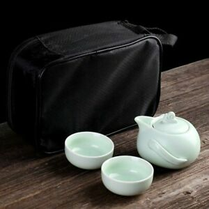 Gaiwan Chinese Kung Fu Ceramics Travel Portable Teapot And Cups Tea Ceremony Set