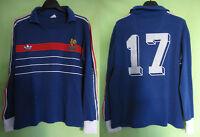 Maillot Equipe France 1984 Adidas Porté #17 Football Jersey Ventex Vintage - L