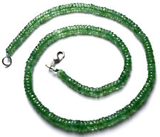NATURAL GEM RARE MINT GREEN COLOR KYANITE FACETED HEISHI BEADS NECKLACE 16""