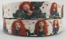 By the Yard 7/8 Inch Printed Disney Princess Merida Grosgrain Ribbon...Lisa