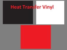 3 Pcs Heat Transfer Vinyl 12 X 10 Sheets T Shirt Htv Bundle Red Black White