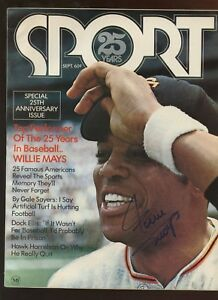 September 1961 Sport Magazine Willie Mays Autographed NO MAILING LABEL