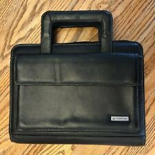 Franklin Covey Classic Size 7 Ring Binder Full Zip Black Leather Withhandles