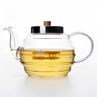 Teiera in vetro trasparente resistente al calore con coperchio e filtro 1000 ml