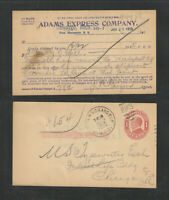 1915 ADAMS EXPRESS COMPANY NEWAYGO MICH ADVERTISING POSTAL CARD UX24 Font #3 RPO