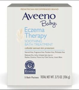 Aveeno Baby Eczema Soothing Bath Treatment/Therapy 10 Bath Packets Exp 01/24