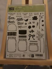 "Stampin' Up! ""Jar of Love"" Set of 37 Rubber Stamps"