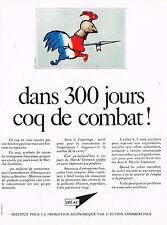 PUBLICITE ADVERTISING 025  1967  IPEAC coq de combat par SAVIGNAC