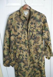 Gander Mountain Tru Leaf Camo Coveralls Mens L USA Made Exc Condition!