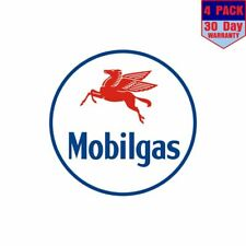 Mobil Gas 4 Stickers 4x4 Inch Sticker Decal