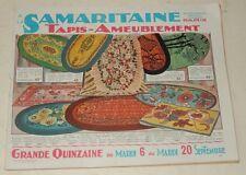 Catalogue A LA SAMARITAINE de 1927 de 44 PAGES : TAPIS - AMEUBLEMENT - BRONZE