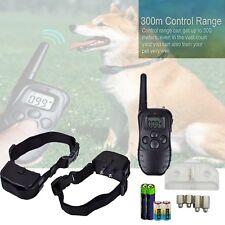Anti-abbaio collare addestramento del cane elettrocuzione vibrazione TELECOMANDO BATTERIE