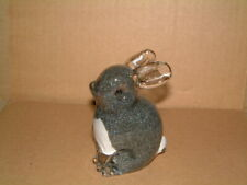More details for langham glass grey rabbit paperweight