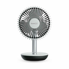 Geek Aire GF5 Rechargeable Oscillating Portable Mini Silent Table Fan, White