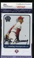Jim Bunning 2001 Fleer Jsa Coa Hand Signed Authentic Autograph