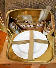 Insulated Picnic Set - Lunch Tote Cooler Basket w/ Utensils and Plates