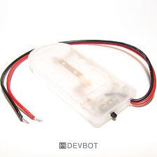 Boitier support 2 piles bouton CR2032, avec interrupteur, transparent. DIY, 2025