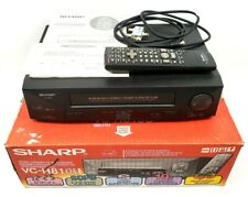 Sharp VC-H810 VHS 4 Head VCR Video Cassette Recorder Player w/ remote & EXTRAS!