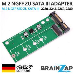 M.2 M2 NGFF auf 2,5 Zoll SATA 3 III Konverter Adapter Karte 2230 2242 2260 2280