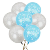 "10×12""  FROZEN SNOWFLAKE PRINTED LATEX BALLOONS XMAS Birthday Party Decoration"