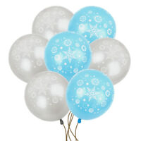 "10×12""  FROZEN SNOWFLAKE PRINTED LATEX BALLOONS XMAS Birthday Party Decoration"