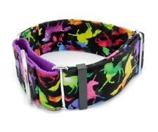 "Unicorn Galaxy Dog Collar 1"" - 2"" Width  mythical magical horse purple"