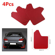 4Pcs Red Car Moulding Mudflaps MudGuards Plastic Splash w/20screws 11.5×15.1in
