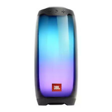 JBL Pulse 4 Waterproof Portable Bluetooth Speaker with Light Show, Black