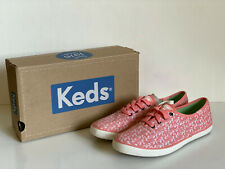 NEW! KEDS CHAMPION BOTANICAL LEAVES CORAL MELON SHOES SNEAKERS 7 37.5 SALE