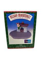 1999 HALLMARK Merry Miniatures Winnie-The-Pooh Piglet Fireplace ORNAMENT 1st NIB