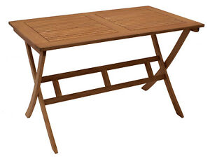 Gartentisch Klapptisch Gartenmöbel Tisch Holztisch BONITA 70x120cm, klappbar