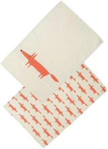 Scion Mr Fox Set of 2 - Tea Towels - Stone