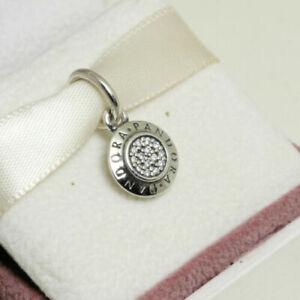 Genuine PANDORA Sterling Silver SIGNATURE Dangle Pendant Charm S925 ALE 390359CZ