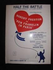 Half The Battle Sheet Music Vintage 1964 Ben Franklin In Paris Mark Sandrich (O)