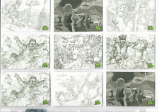 Mars Attacks! Occupation - Lot Of 18 Concept Art Parallel Base Cards NM