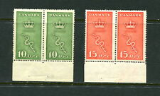 Denmark 1929 #B3A-4A booklet panes Cancer Committee  MVLH  E184