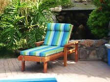 """Single Redwood Chaise Lounge with cushion 30""""H x 24""""W x 72""""L"""