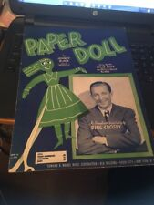Sheet Music: Paper Doll, Bing crosby 1943