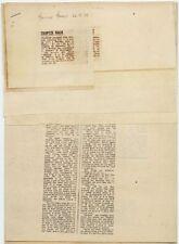 Trapeze 'Medusa' Press Cuttings Lot 1970