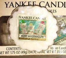 Yankee Candle USA Wax Tart Merry Marshmallow Rare/retired/vhtf