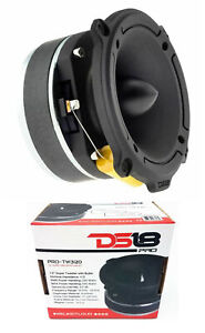 "DS18 1.5"" Super Bullet Tweeter 500W Titanium Black 4 Ohm PRO-TW320"