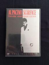 SCARFACE 2 Disc Anniversary Edition DVD Al Pacino Brian De Palma Free Shipping