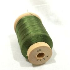 Size 00 Grass Green #3771 SILK THREAD~925 Yards RICE'S Bamboo Rod Wrapping NOS