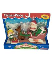 Fisher Price Little People Santa's Delivery Christmas 1999 new girl elf present