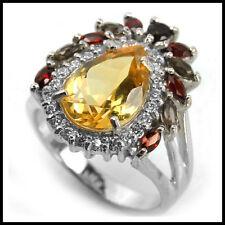 Citrine Oval Sterling Silver Fine Gemstone Rings