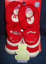 Carters 2pc Bootie Shoe Glove Set NWT New Born Booty Carter's Nursery Shoes NEW